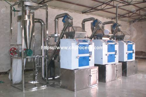 600kg per hour chili powder production line