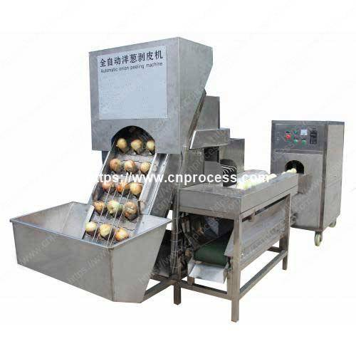 automatic-onion-peeling-and-onion-root-cutting-machine